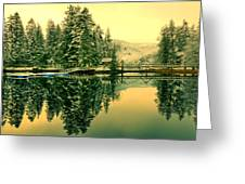 Picturesque Norway Landscape Greeting Card