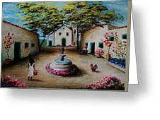 Picturesque Spanish Village Greeting Card by Stefon Marc Brown