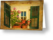 Picturesque Taormina Window  Greeting Card
