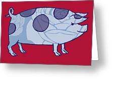 Piddle Valley Pig Greeting Card