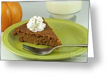 Piece Of Pumpkin Pie Greeting Card