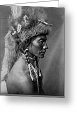 Piegan Indian Circa 1910 Greeting Card