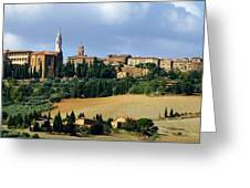 Pienza A Hill Town In Tuscany Greeting Card