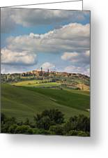Pienza In The Afternoon Panorama Greeting Card
