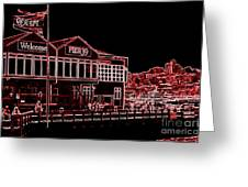 Pier 39 Red Greeting Card