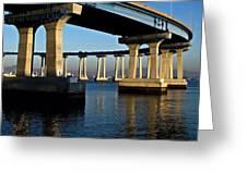 Pier 4- Coronado Bridge Greeting Card