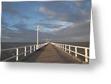 Pier And Shadows Greeting Card