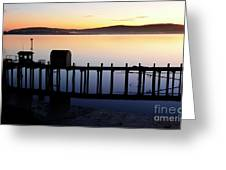 Pier At Bodega Bay California Greeting Card