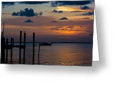 Pier At Buttonwood Sound Greeting Card