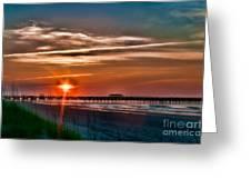 Pier At Dawn 167 Greeting Card