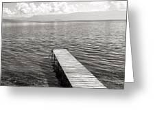Pier At Lake Ohrid Greeting Card
