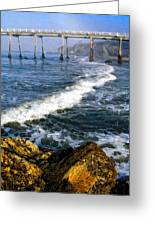 Pier Breakers Greeting Card by Ron Regalado