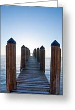 Pier By Sea Greeting Card