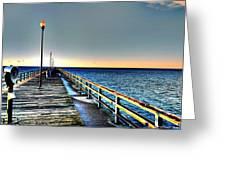 Pier - Chesapeake Bay Bridge #1 Greeting Card