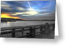 Pier Eve Greeting Card