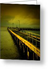 Pier Glow Greeting Card