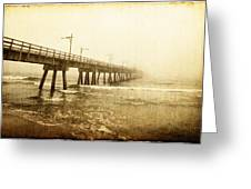 Pier In A Storm Greeting Card