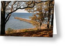 Pier In The Fall Greeting Card