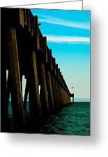 Pier Into The Horizon Greeting Card