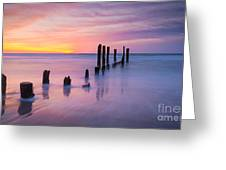 Pier Into The Past 16x9 Greeting Card