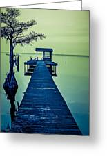 Pier On The Lake Greeting Card