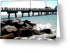 Pier Poster Greeting Card by Sharon McLain