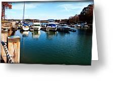 Pier Pressure - Lake Norman Greeting Card