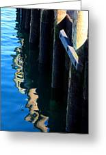 Pier Reflection Greeting Card