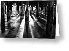 Pier Shadows Greeting Card