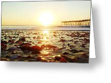 Pier Shells And Sunrise 15 10/2 Greeting Card