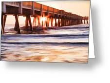Pier Sunrise Too Greeting Card