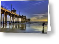 Pier Surfer  Greeting Card