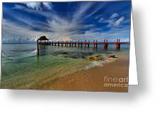 Pier To Paradise Greeting Card