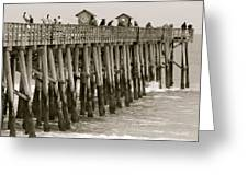 Pier View Greeting Card