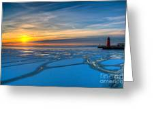 Pierhead Polar Vortex Sunrise Greeting Card