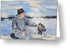 Pierre The Fisherman - Le Pecheur Greeting Card
