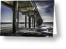 Piers At La Jolla California. Greeting Card