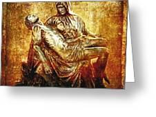 Pieta Via Dolorosa 13 Greeting Card by Lianne Schneider