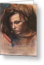 Pietro Annigoni-study Of Eva Greeting Card by Svetlana Rudakovskaya