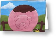 Pig Nursery Art Greeting Card