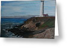 Pigeon Lighthouse Daytime Titrad Greeting Card