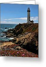 Pigeon Point Lighthouse Vertical Greeting Card