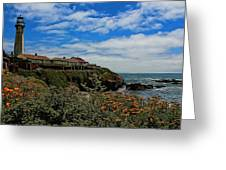 Pigeon Point Lighthouse Painted Greeting Card