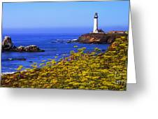 Pigeon Point Lighthouse Panoramic Greeting Card