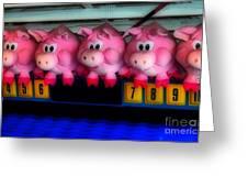 Piggy Race Greeting Card