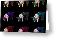 Piglet Pop Art - 0878 Fs - M - Bb Greeting Card