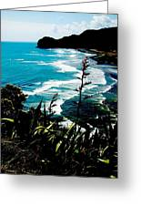 Piha Beach Greeting Card