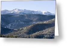 Pike National Forest In Snow Greeting Card