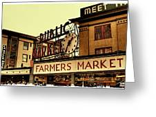 Pike Place Market - Seattle Washington Greeting Card