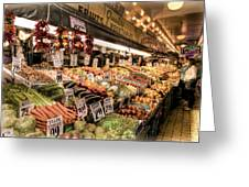Pike Place Veggies Greeting Card